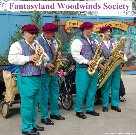 The Fantasyland Woodwind Society officially debuted in the Magic Kingdom on August 8, 2000.  Sights, sounds, colors and experiences...these all combine in the Happiest Place on Earth!