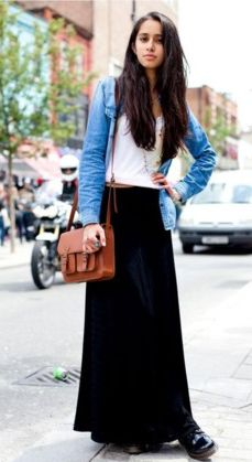 Long Skirt With Jacket   Outdoor Jacket