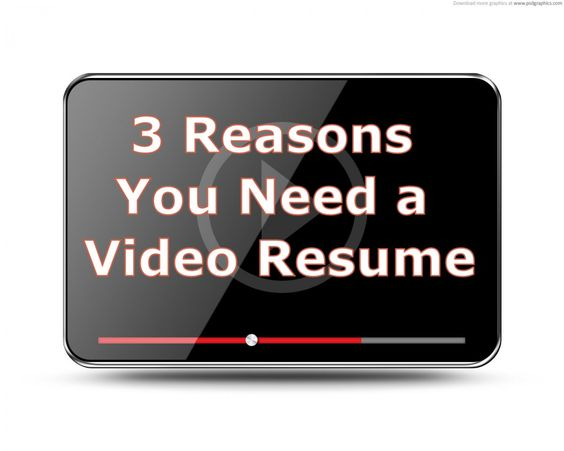Already in the running? A video resume can help you stand out - what does a resume cover resume