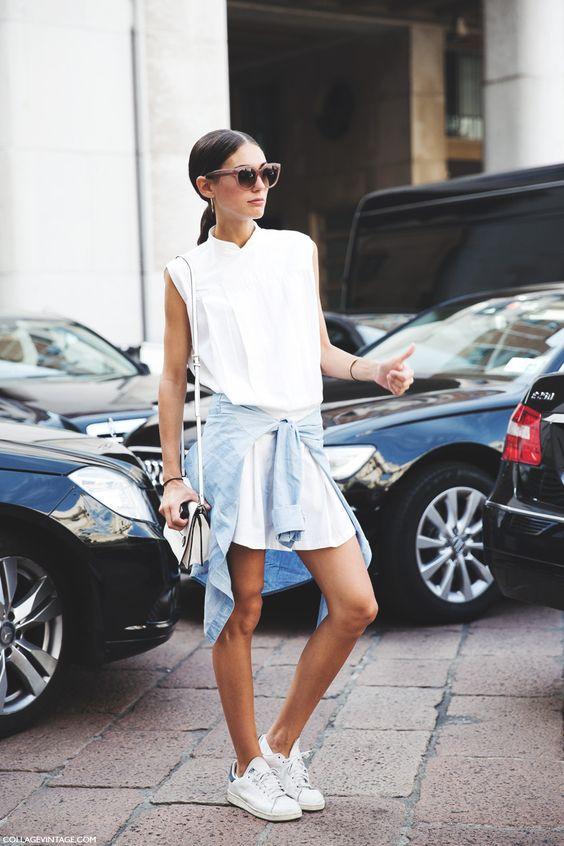 Street Style: Inspire se a aprenda a usar looks com tênis: