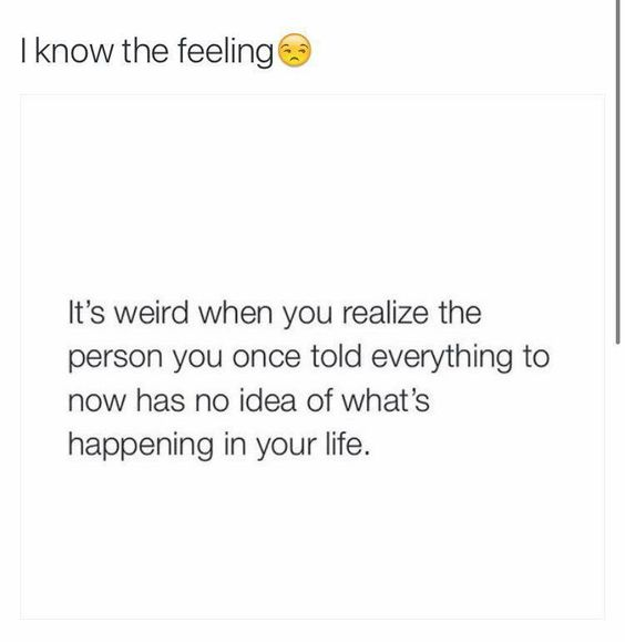 Yup definitely hurts.., everyone one of my 'friends' have no idea of what's going on in my life
