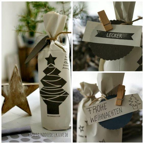 Emilia und die Detektive: DIY ★ Schöne Verpackung zu Weihnachten aus Recycling - Papier!