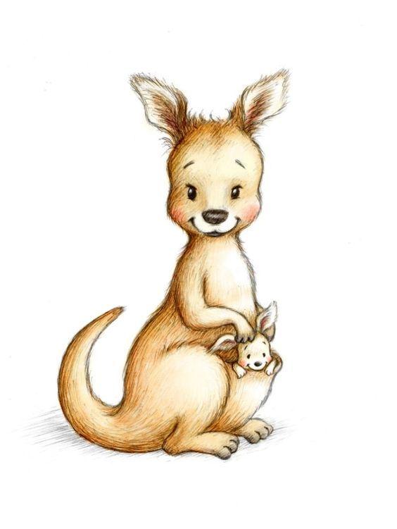 Pin By Julia Kasyan On Idei Kangaroo Drawing Kangaroo Illustration Kangaroo Art