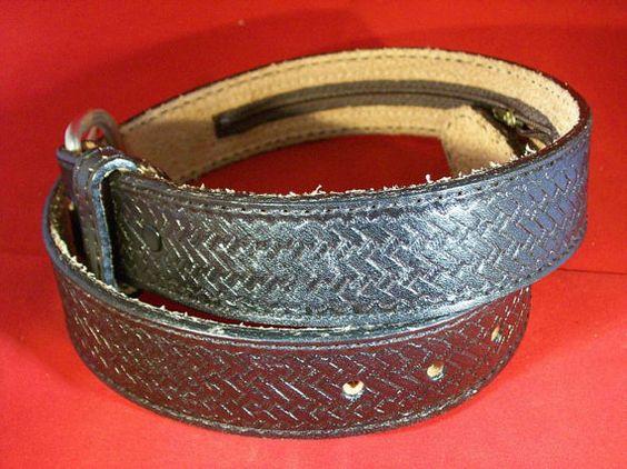 Custom Leather MONEY Belt with Black by legacyleathercraft on Etsy, $19.95