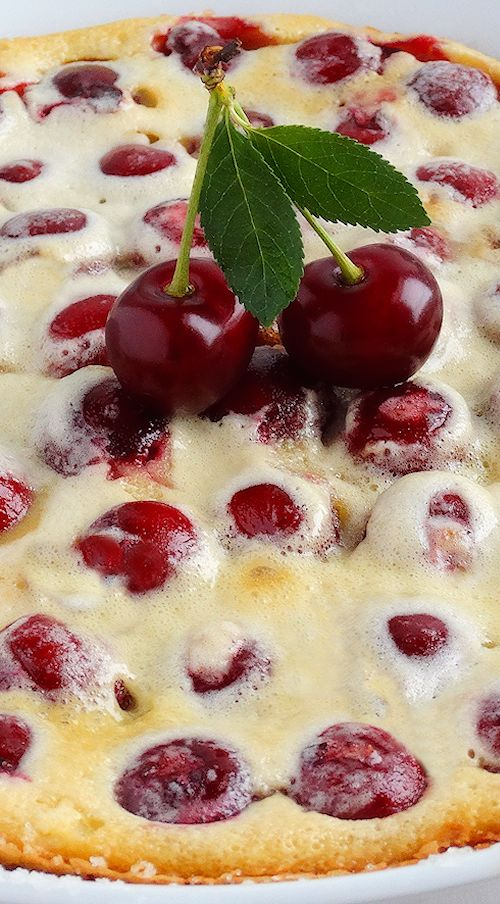 Sophisticated yet simple, creamy, rich and scrumptious yet incredibly easy to prepare, our Perfect Cherry Clafoutis is based on Julia Child's classic French recipe but with a twist. Everyone will love this recipe. It never fails to impress! | dessert recipe gluten free option