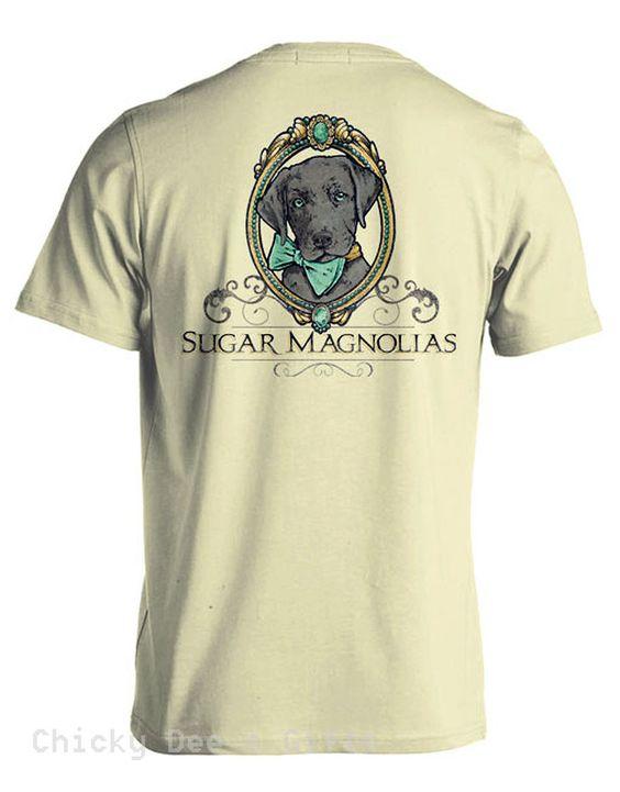 Sugar Magnolias Puppy Unisex Tee Shirt Southern T Shirt