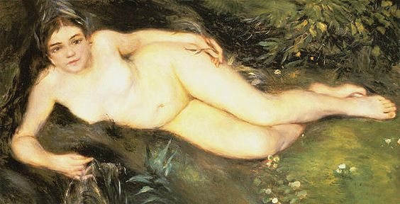 Nymph At The Stream - Pierre-Auguste Renoir, commonly known as Auguste Renoir, was a French artist who was a leading painter in the development of the Impressionist style.  Born: February 25, 1841 - Died: December 3, 1919,