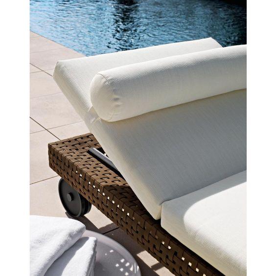Charles Outdoor Sonnenleige mit verstellbarer Rückenlehne von B&B Italia, Outdoor Gartenmöbel B&B Italia
