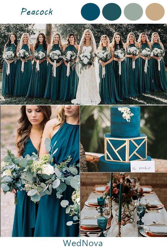Peacock Wedding Ideas Inspirations Weddings Wedding Weddingcolors Fallwedding Fallweddingcolor Peacock Wedding Colors Teal Wedding Wedding Theme Colors