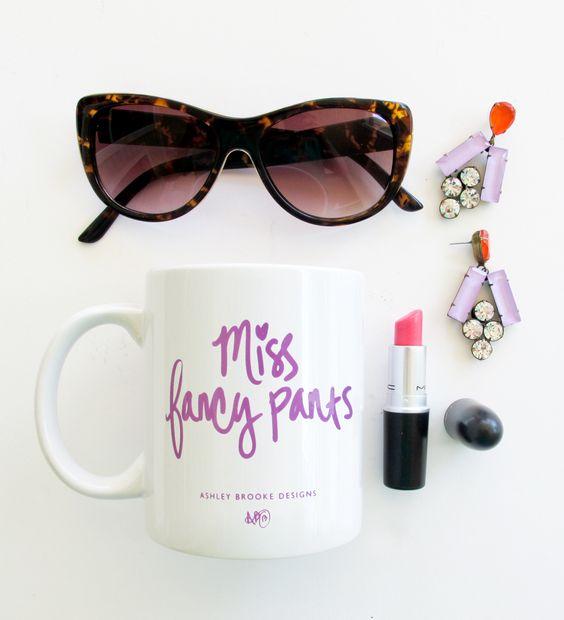 """Miss Fancy Pants"" Coffee Mug   blushandbashfulboutique.com"