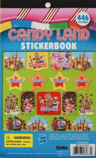 Amazon.com : Eureka Candy Land Stickerbook : Early Development Activity Centers : Toys & Games