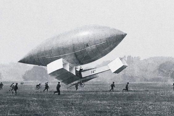 """O protótipo N-14 foi um """"embrião"""" do 14 Bis; o modelo voou em 1904 (Domínio Público)"""