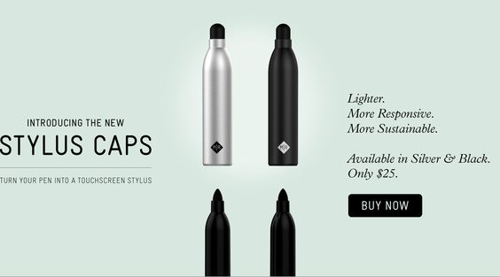 Stylus caps make a touchscreen #stylus out of your normal #pen. $25 #gadget