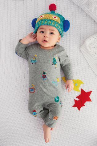 Next:日本で今すぐオンラインショッピング: グレー 刺繍模様 ロンパース (0~18 か月) Next:日本