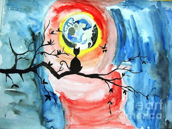 Cat N Moon by Purnima Jain