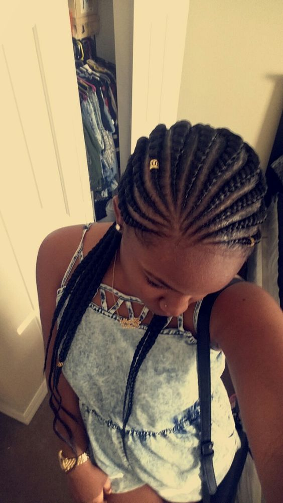 Protective Style Ghana Braids  #braids #protectivehairstyles my first pin of myself @Najha