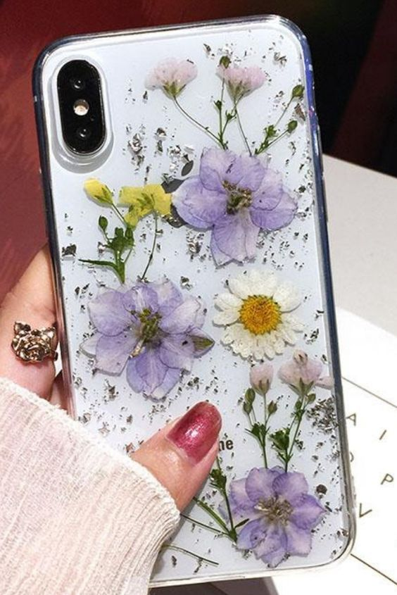 Luxe Pressed Flower Protective Iphone 11 12 Case Cute Phone Cases Protective Flower Phone Case Apple Phone Case