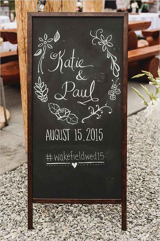 wedding chalkboard signs #weddingsigns @weddingchicks