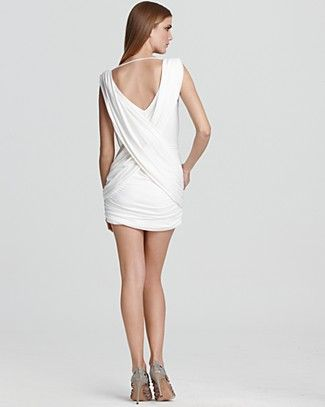 Lella Plunge Cocktail Dress Bcbg