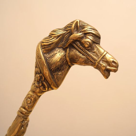 Vintage Very Heavy Solid  Brass Shoehorn  Horse by UKAmobile