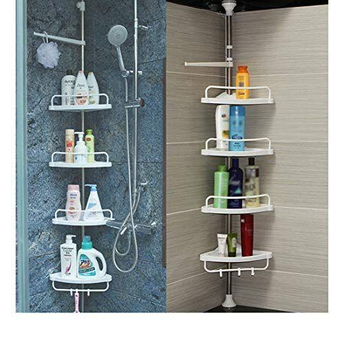 4 Layer Bathroom Shower Bath Caddy Corner Storage Rack Wall Shelf Pole Organizer Shower Shelves Bathroom Organisation Shower Caddy