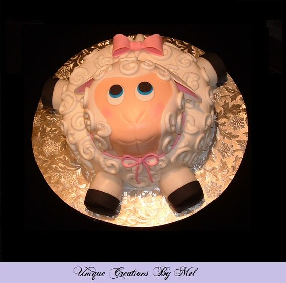 Lamb cake - perfect for a baby shower or Easter celebration.