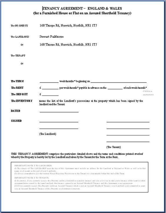 Printable Sample Rental Lease Agreement Templates Free Form Anna - inventory list for landlords