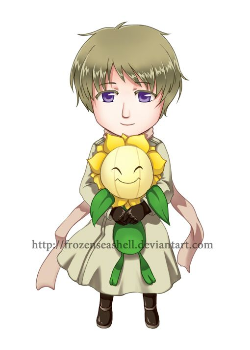 """HetaPoke- Russia + Sunflora by FrozenSeashell.deviantart.com on @deviantART - Sixth in a series pairing Hetalia characters with Pokémon. From the artist's comments: """"By having Sunflora as partner, Russia would have a never-withering Sunflora garden"""" Aw...that's cute :)"""