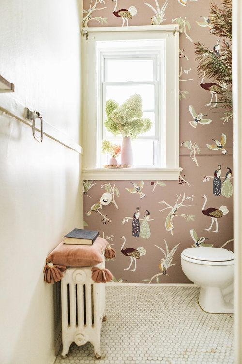 Spontaneous Adventures Are The Inspiration Behind This Wallpaper Line Hand Painted Wallpaper Bathroom Decor Bathroom Wallpaper