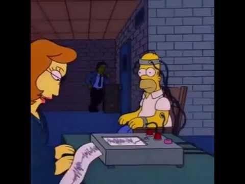 Homer Simpson Lie Detector/
