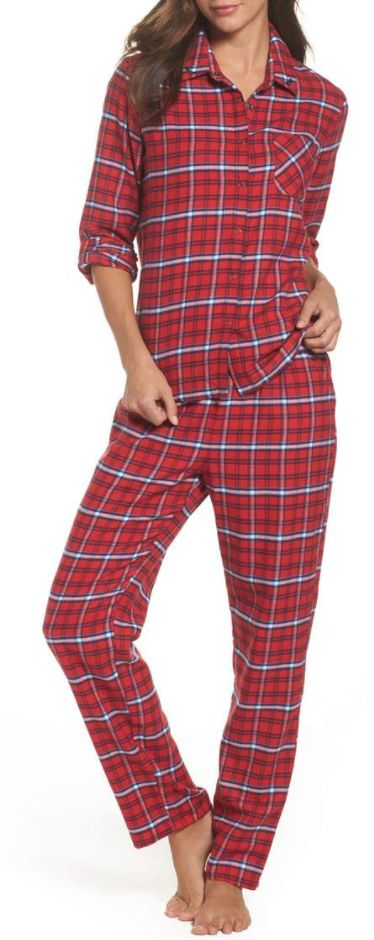 Cute plaid flannel pajamas
