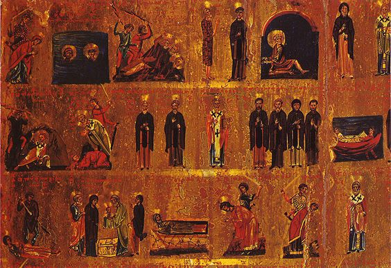 Calendar icon from the St. Catherine's Monastery, 2nd half of the 11th century