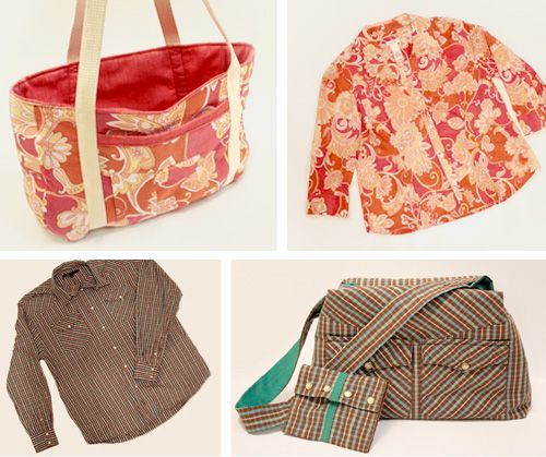upcycle shirt to bag - what a great idea!!