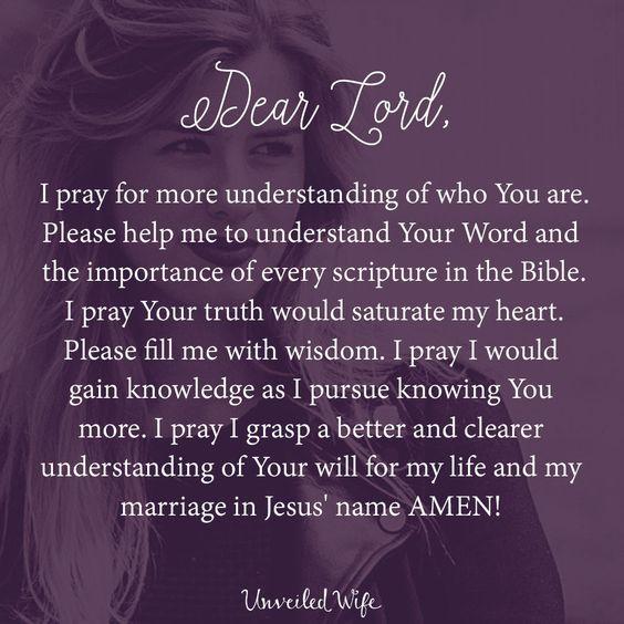 Prayer: Understanding God More