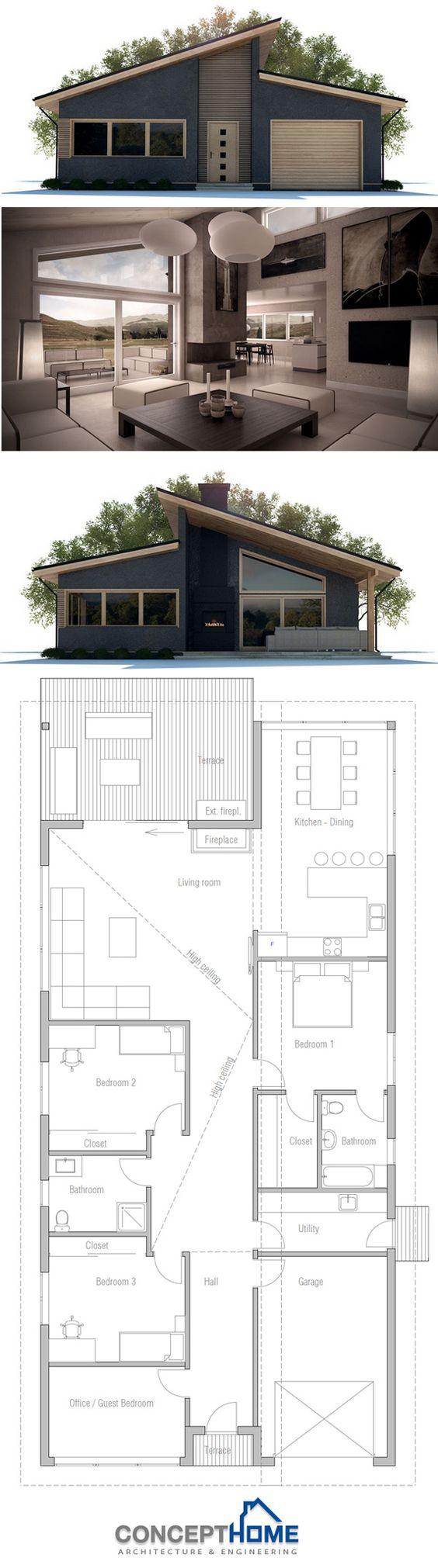 Pinterest the world s catalog of ideas for Big modern house plans