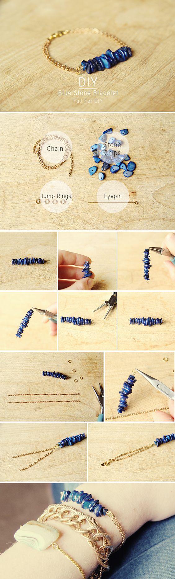 #tutoriels #collier #necklace #DIY pour vous aider à réaliser vous-même vos #créations vos #bijoux Vous trouverez tout le #matériel nécessaire sur notre site de #professionnels #cooksonclal http://www.cookson-clal.com/ DIY Blue Stone Bracelet diy crafts craft ideas easy crafts diy ideas crafty easy diy diy jewelry diy bracelet craft bracelet jewelry diy