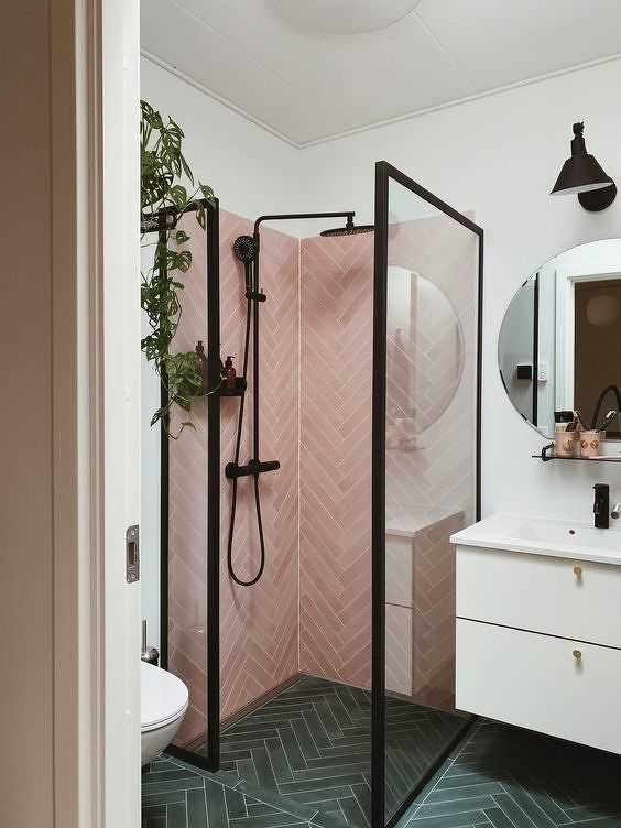 24 Cool Small Bathrooms With A Shower In 2020 Small Bathroom Inspiration Bathroom Interior Design Small Bathroom Remodel
