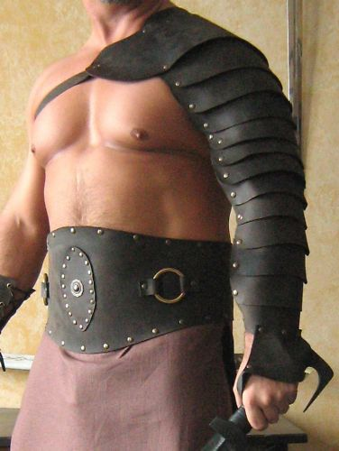 Medieval Gladiator Single Leather Arm Armor by MorganasCollection, $99.99