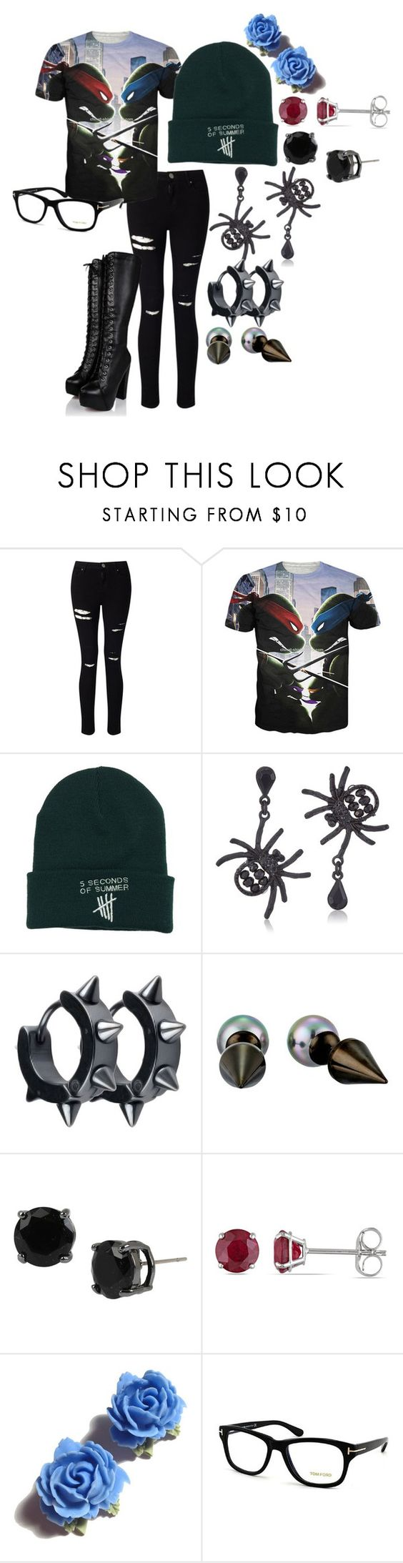 """Untitled #105"" by bikergal98 on Polyvore featuring Miss Selfridge, Betsey Johnson, Majorica, Mixit, Allurez, Tarina Tarantino and Tom Ford"