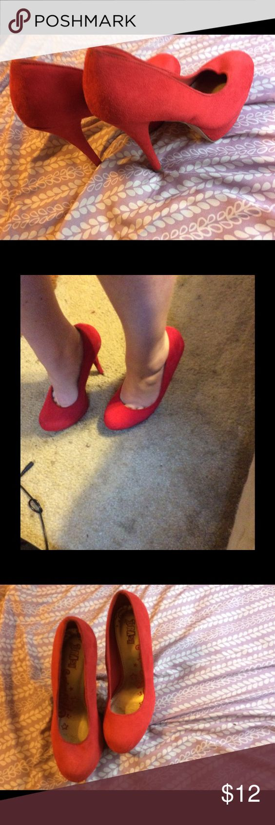 Cute Red Heels For Cheap