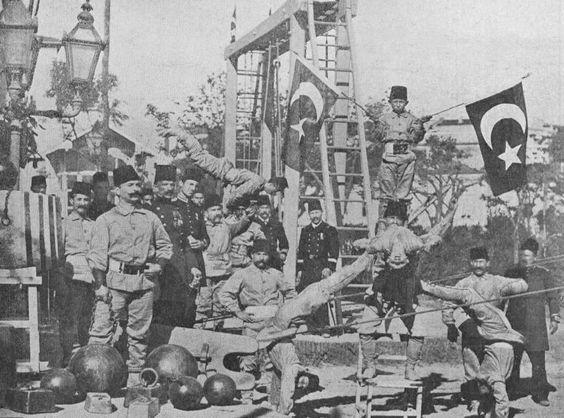 [Ottoman Empire] Students of the Navy School During Exercise, 1890s (Osmanlı Mekteb-i Bahriye Talebeleri İdmanda)