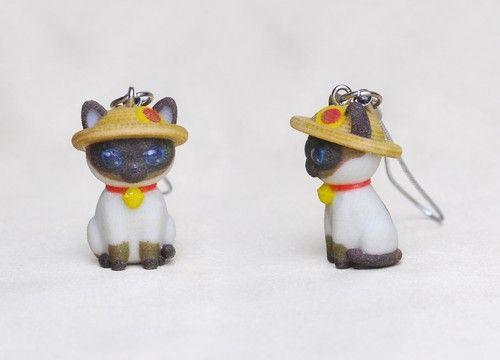 【夏季限定】お座り猫ストラップ(シャムj猫)【楽天市場】