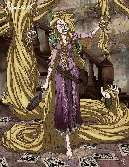 twisted disney princesses jeffrey thomas: rapunzel