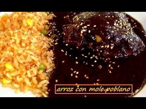 Comida mexicana - MOLE CON ARROZ- receta fácil, económica y deliciosa / ...