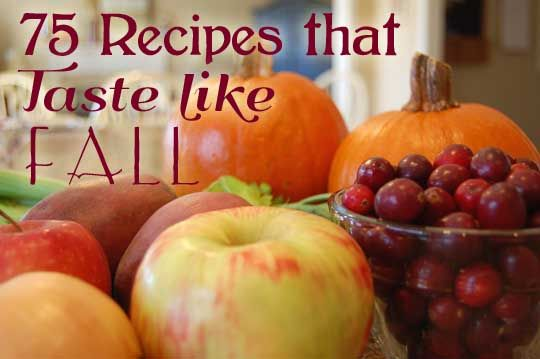 75 recipes that taste like fall