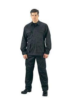 $27.25 Ultra Force Black BDU Shirt Slightly Off Shade| http://camouflage.ca