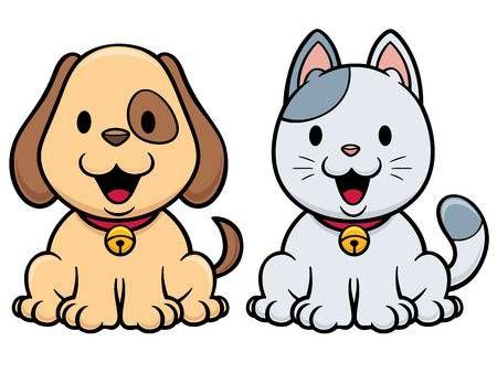 Illustrazione Vettoriale Di Cartone Animato Di Cane E Gatto Cane Cartone Animato Disegni Di Cane Fotografia Di Animali