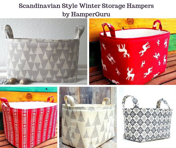 Scandinavian Style Winter Storage Hampers by HamperGuru