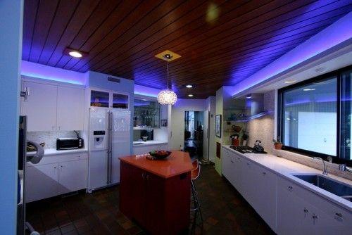 Cambridge House Kitchen- LED cove light