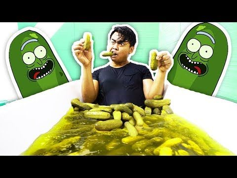 Pickle Bath Challenge Youtube Challenges